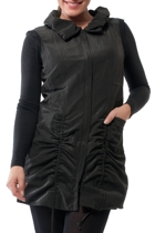 Orientique Ruched Detail Longline Zip Vest