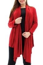 Essential Jersey Wrap Cardigan