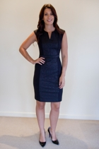 Spliced Jacquard Stretch Dress