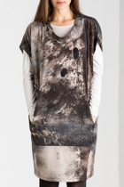 Landscape Print Knit Dress