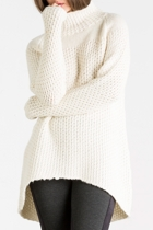 Winter White Honeycomb Knit