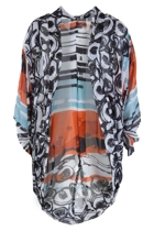 Orientique New World Print Cape