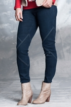 Textured Denim Jegging