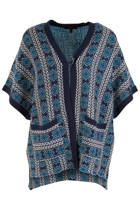 Oversized Pattern Cardigan
