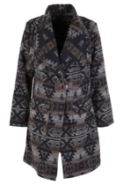 Aztec Pattern L/S Coat