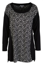 Printed Lace L/S Jersey Dress