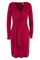Assymetric L/S Draped Dress