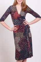 Peacock Wrap Dress