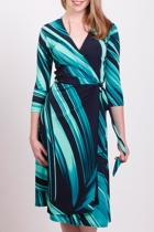 Watercolour Wrap Dress