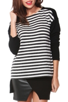 Sass Tribeca Stripe Knit