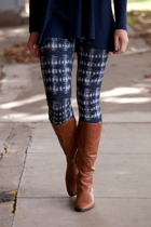 Reflection Print Ponte Legging