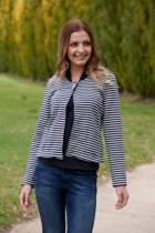 Nautical Striped L/S Jacket