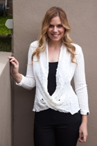 Draped Rib Wool Blazer