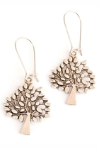 Tree Long Drop Earrings