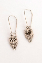 Owl Long Drop Earrings