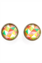 Geometric Coloured Stud Earrings