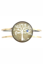 Blue Bird In Tree Cuff Bangle
