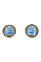 Blue Bird Stud Earrings