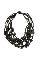 7 Strand Timber Chunky Necklace