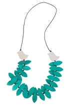 Leafy Bird Long Necklace