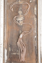 Adorne Tassel Long Necklace