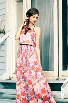 Uttam Boutique Pixalated Rose Maxi Dress