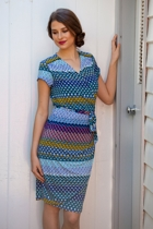 Mexicana Geo Print Wrap Dress