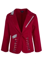 Button Trim Red Jacket