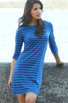 Ultramarine Peplum Sleeve Dress