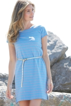 Rose Stripes Tee Shirt Dress
