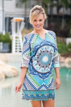 Zodiac Print Tunic Dress