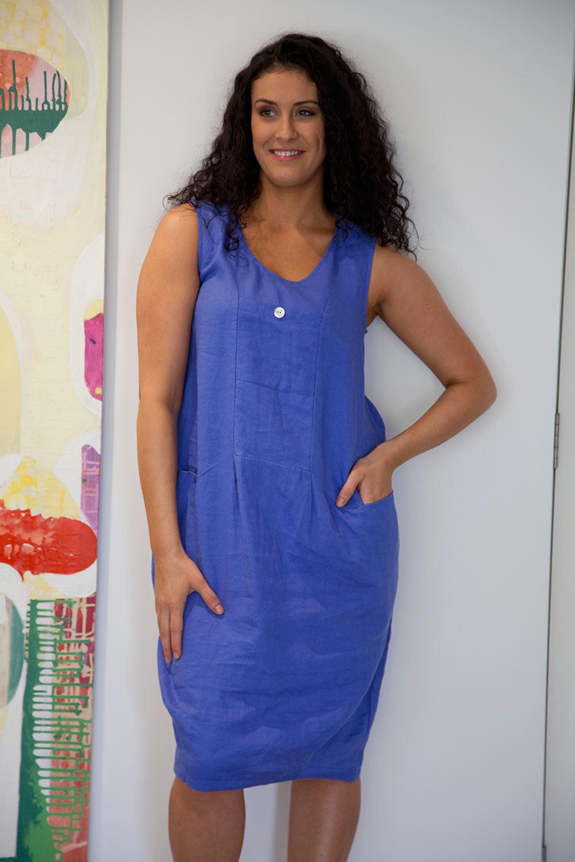 Gordon Smith Sleeveless Linen Dress