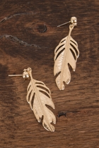 Adorne Feather Stud Earrings