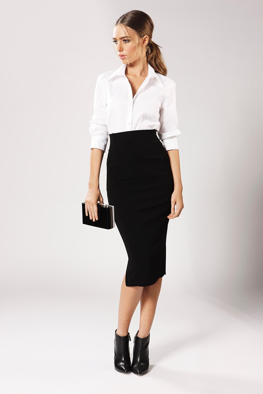 Pencil Skirt And Shirt 44