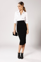 Pencil skirt   3 4 sleeve shirt small2