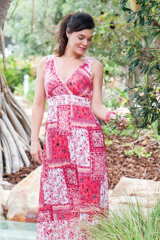 Orientique Patchwork Maxi Dress