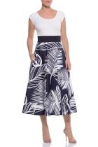 Ines midi skirt  navy white l1eaf  small2