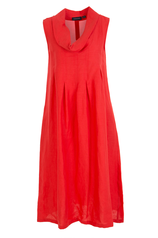 Gordon Smith Linen Cowl Neck Dress