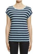 Jws147082 stripe roll sleeve tee  navy  1  small2