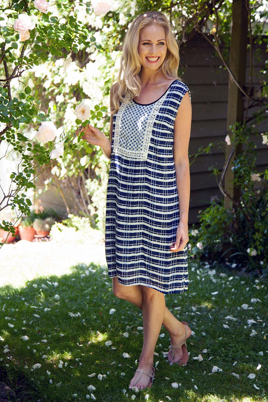 Clarity By Threadz Lace Insert Dress