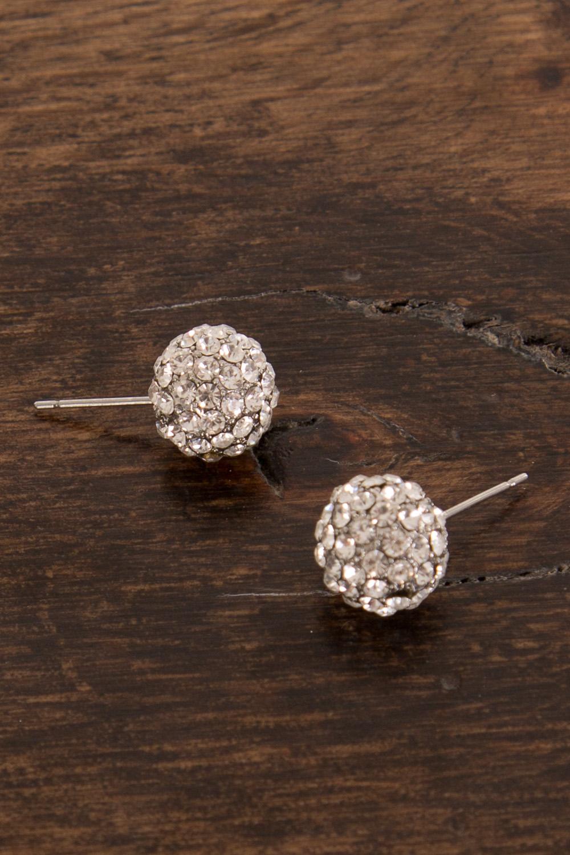 Adorne Diamante Ball Stud Earring