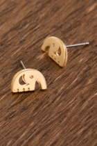 Elephant studs gold small2