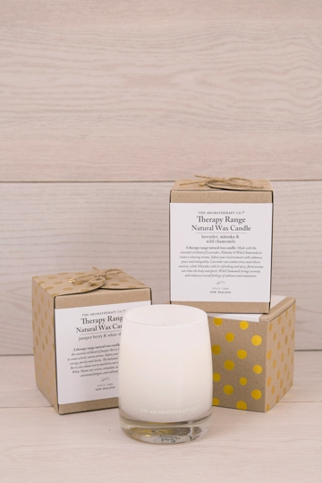 The aromatherapy co lavender manuka chamomile candle for Different brands of candles