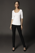 3 4 sleeve top  white    skinny pant small2
