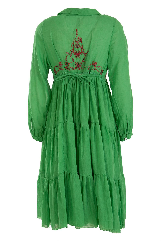 New naudic womens knee length dresses fields embroidery