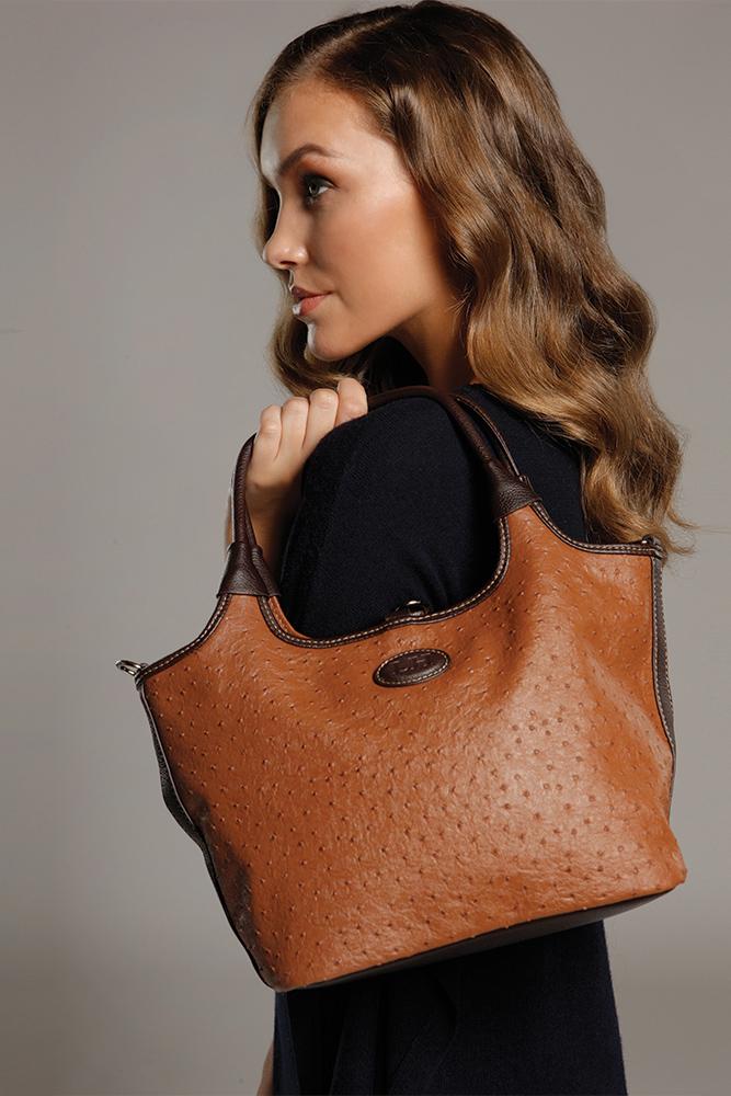 LOUENHIDE Ostrich Penny Poppet Bag