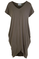 Oragami tee dress front  stone small2