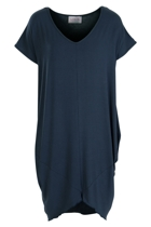 Oragami tee dress front dusk small2