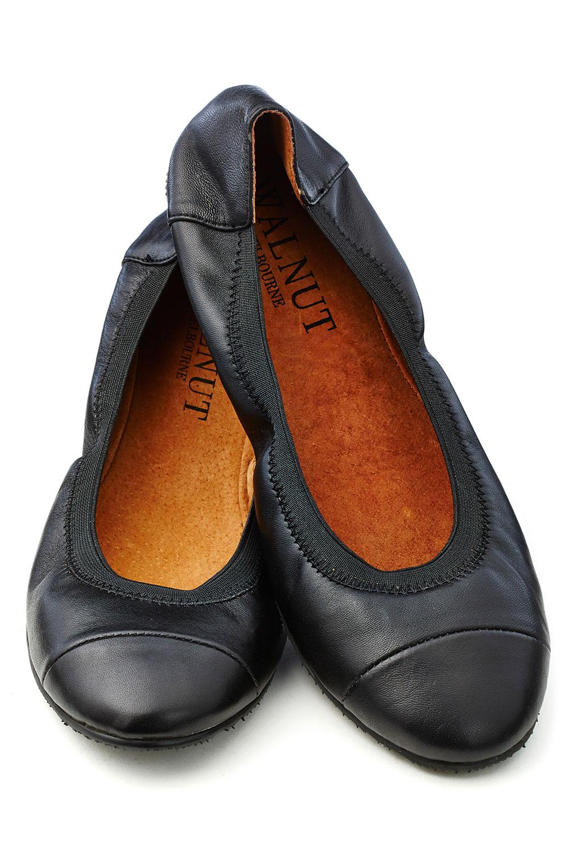 Walnut Ava Leather Flat