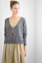 Felicity cardi in grey marle with zoe dress in scribble small2